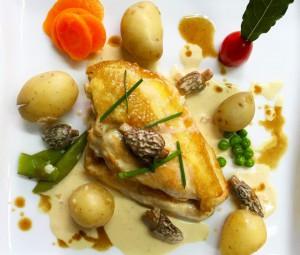 Poulet sauce champignons